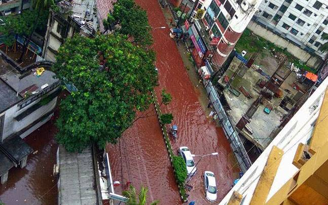 Blood River in Dhaka