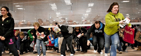 Black friday rush in stores