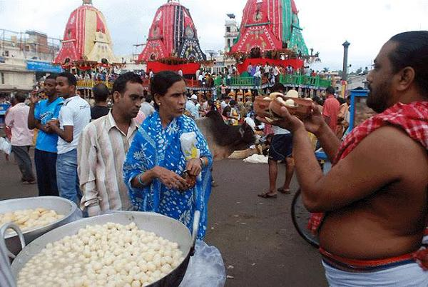 Rasagola during Rathjatra